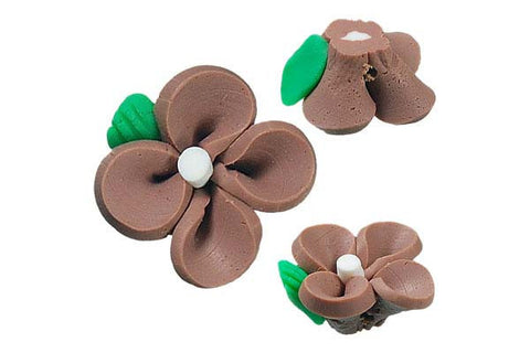 Pendant Poly Clay Flower (Brown 107)
