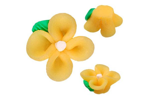 Pendant Poly Clay Flower (Yellow 107)