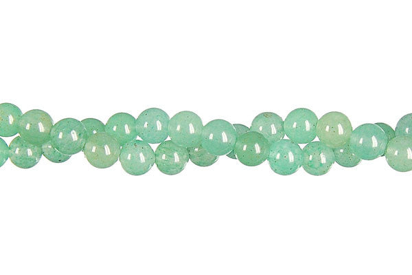 Green Aventurine Round (Light) Beads