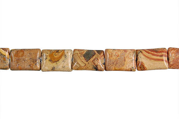 New Picture Jasper Flat Rectangle Beads