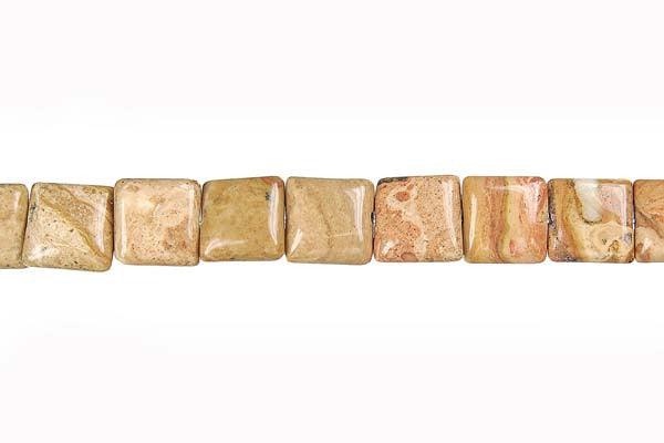 New Picture Jasper Square Beads