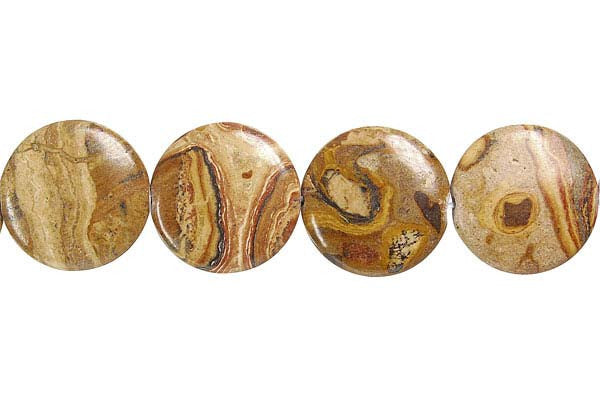 New Picture Jasper Button Beads