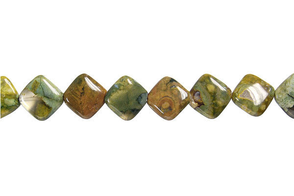 Rhyolite Diamond Square Beads