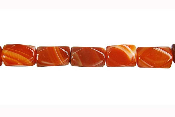 Sardonyx (Red) Faceted Nugget Beads