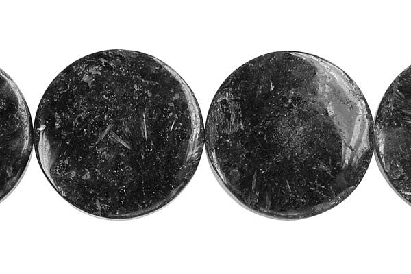 Blue Fire Feldspar Coin Beads