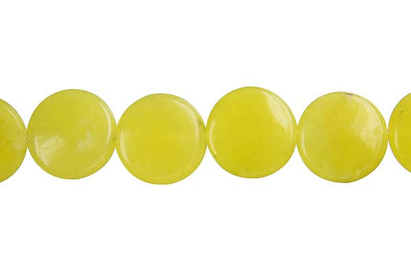 Olive Jade (Light) Coin (A) Beads