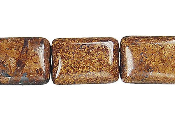 Bronzite Flat Rectangle Beads