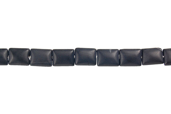 Matte Onyx Flat Rectangle Beads