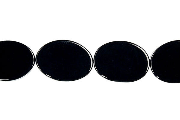 Black Onyx (AAA) Mirror Oval Beads