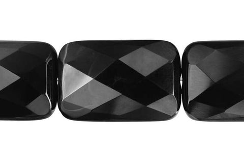 Black Onyx Faceted Rectangle Beads