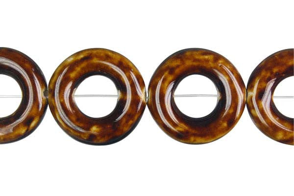 Porcelain Donut (Coffee) Beads