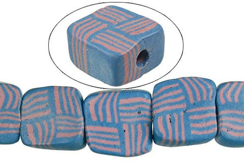 Poly Clay Puffy Square (6465A) Beads