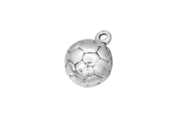 Sterling Silver Soccer Ball Sports Charm, 10.0x10.0mm