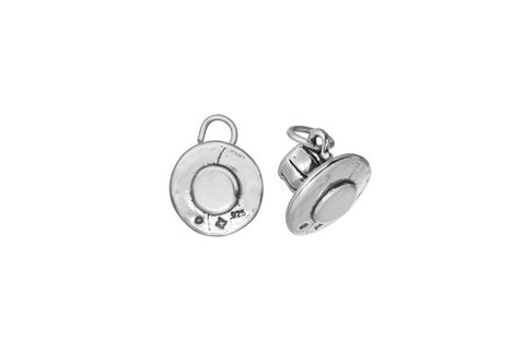 Sterling Silver Cup & Saucer Charm, 12.0x12.0mm