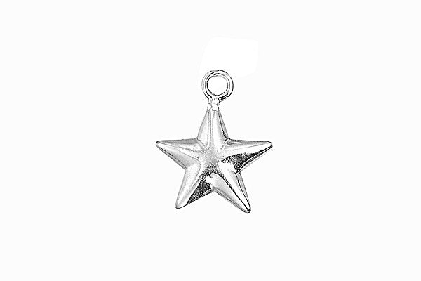 Sterling Silver Star Charm, 17.0x14.0mm