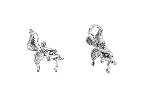 Sterling Silver Fairy Charm, 18.0x12.0mm