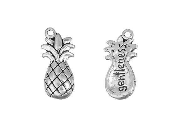 Sterling Silver Pineapple - Gentleness Charm, 20.0x10.0mm