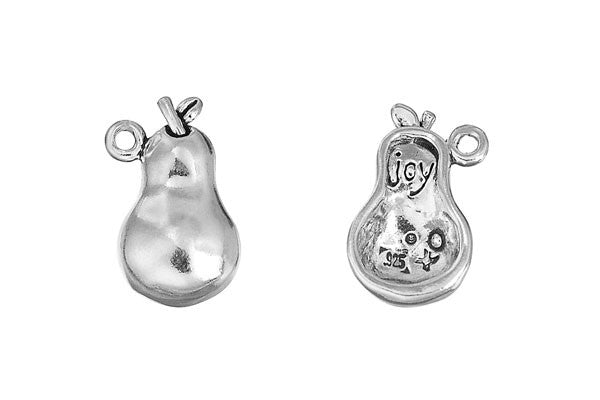 Sterling Silver Pear - Joy Charm, 18.0x11.0mm