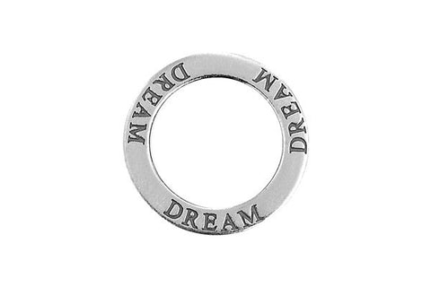 Sterling Silver Dream Affirmation Band Charm, 22.0mm