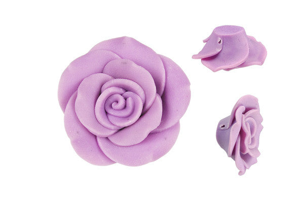 Pendant Poly Clay Flower (Purple 405)