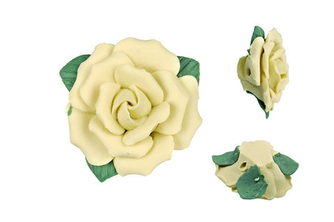 Pendant Poly Clay Flower (Yellow 305)