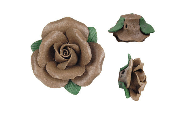 Pendant Poly Clay Flower (Smoky 205)