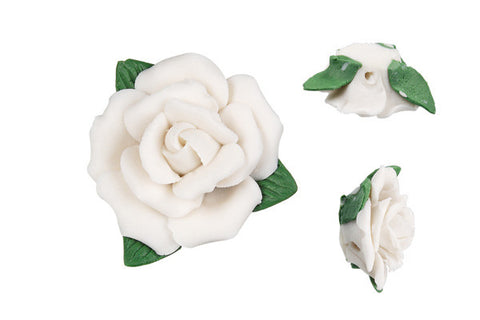 Pendant Poly Clay Flower (White 305)
