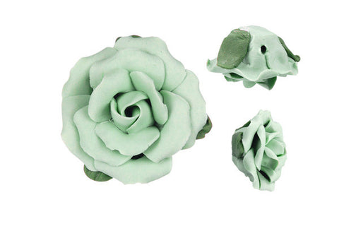 Pendant Poly Clay Flower (Green 305)