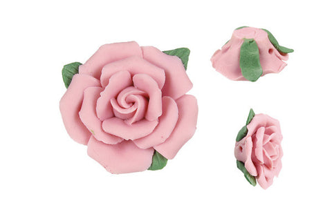 Pendant Poly Clay Flower (Pink 305)