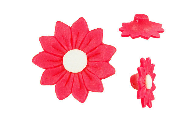 Pendant Poly Clay Flower (Pink 11)