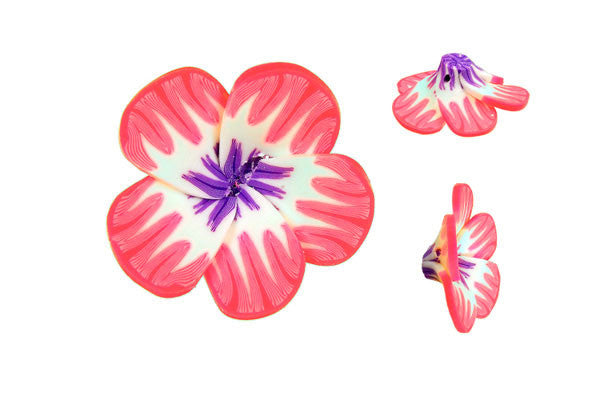 Pendant Poly Clay Flower (Pink 105)
