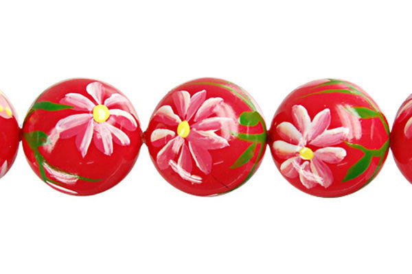 Shell Pearl Round (Flower 08) Beads
