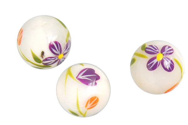 Shell Pearl Round (Flower 07) Beads