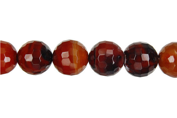 Zebra Onyx Faceted Round Beads