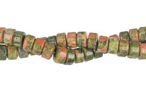 Unakite (Brazil) Disc Beads