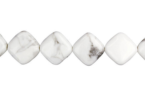 Howlite Diamond Square Beads