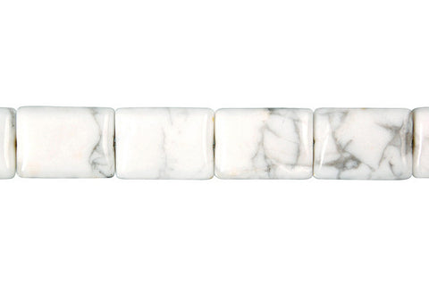 Howlite Flat Rectangle Beads