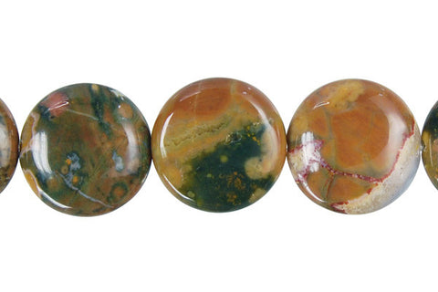 Rhyolite Coin Beads