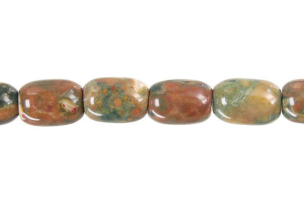 Rhyolite Drum Beads