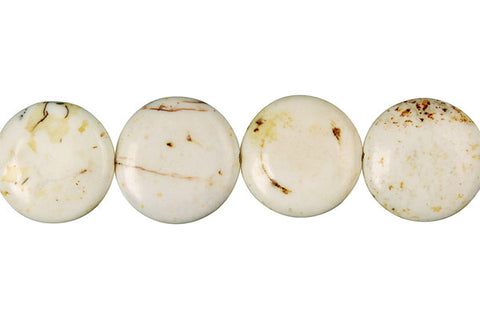 Howlite (Gray Matrix) Coin Beads