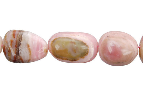 Pink Opal Smooth Nugget (B) Beads