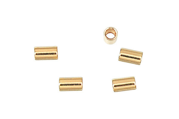 Gold-Filled Crimp 2.0mm, 2.0x3.0mm