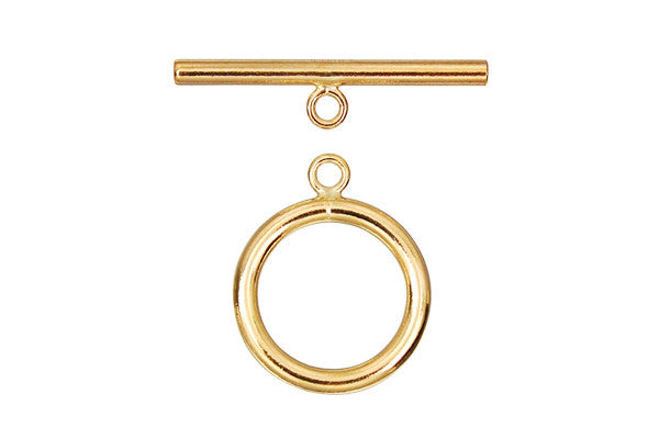 Gold-Filled Toggle Clasp, 2.00x15.0mm