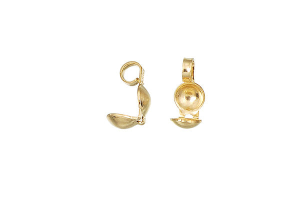 Gold-Filled Clamshell Bead Tip, 3.8x8.0mm