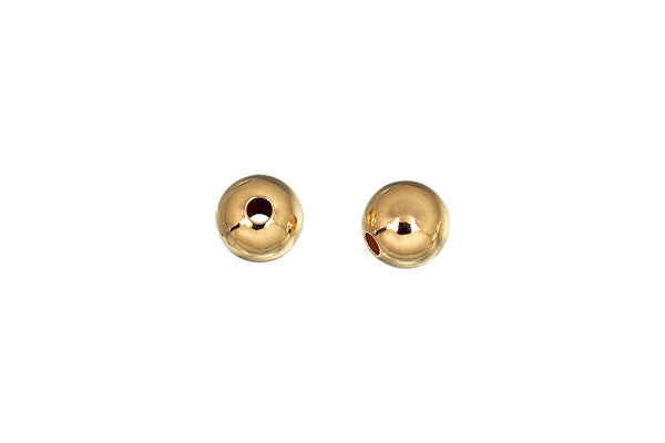 Gold-Filled Round Bead, 7.0mm
