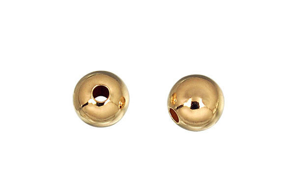 Gold-Filled Round Bead, 5.0mm