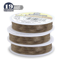 "Beadalon 19-Strand 26-Gauge, .015"" Bronze Jewelry Wire"