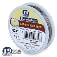 "Beadalon 19-Strand 26-Gauge, .015"" Bright Jewelry Wire"