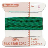 Griffin 100% Silk Thread, Size 4, Green