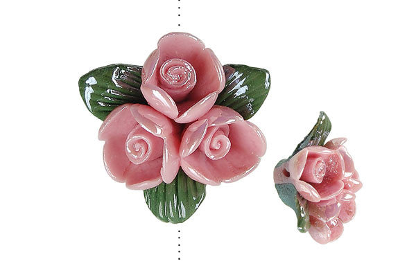 Pendant Poly Clay Flower (Pink 641)